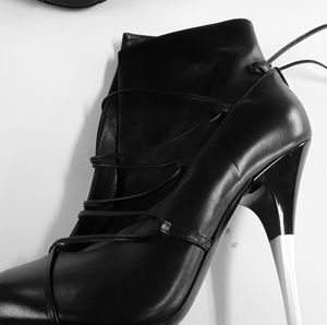 Versace stiletto ankle boots-worn by LaLa Anthony
